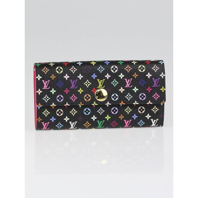 Louis Vuitton Black Multicolore Monogram Canvas Sarah Wallet