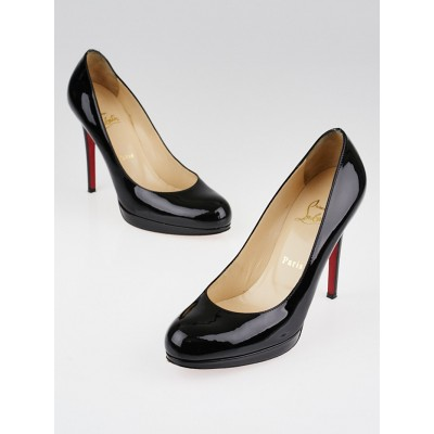 Christian Louboutin Black Patent Leather New Simple 120 Pumps Size 7.5/38