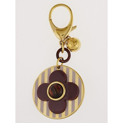 Louis Vuitton Purple Flower Key Chain and Bag Charm