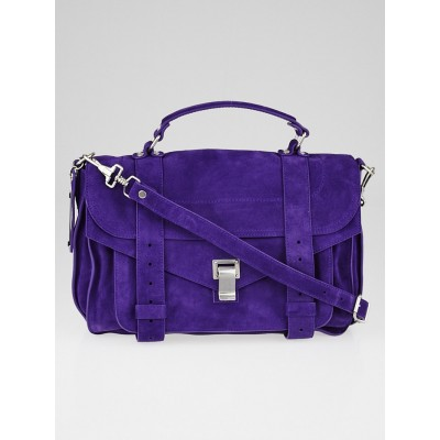 Proenza Schouler Amethyst Suede Medium PS1 Satchel Bag