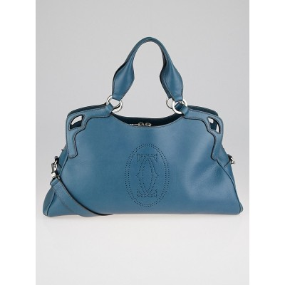 Cartier Iced Blue Calf Leather Marcello De Cartier Worldwide Bag