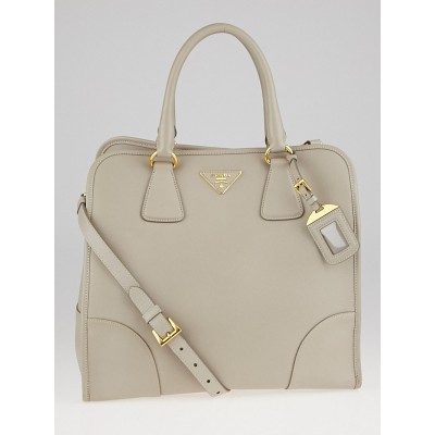 Prada Pomice Saffiano Lux Leather Tote Bag BN2254
