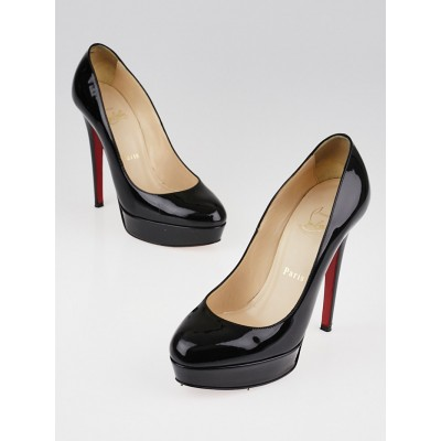Christian Louboutin Black Patent Leather Bianca 140 Pumps Size 6/36.5