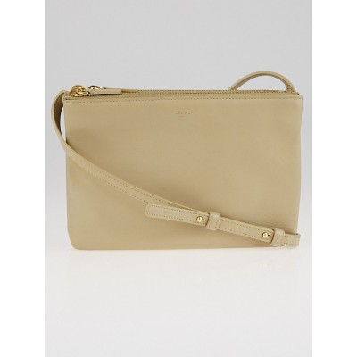 Celine Beige Lambskin Leather Trio Small Crossbody Bag