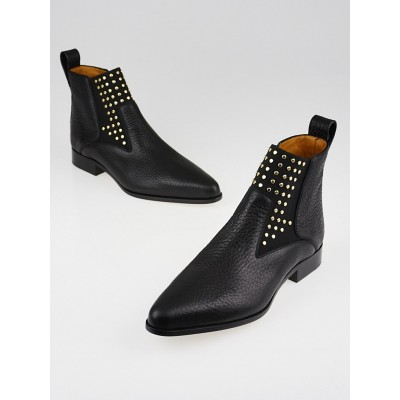 Chloe Black Leather Studded Chelsea Boots Size 9/39.5