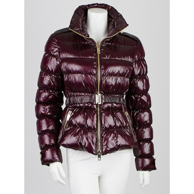 Burberry London Purple Down Quilted Puffer Jacket Size L