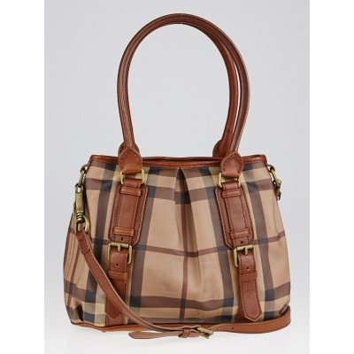 Burberry Smoked Check Coated Canvas Northfield Bag