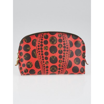 Louis Vuitton Limited Edition Yayoi Kusama Red Monogram Pumpkin Dots Cosmetic Pouch