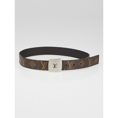 Louis Vuitton Monogram Canvas LV Cut Belt Size 75/30