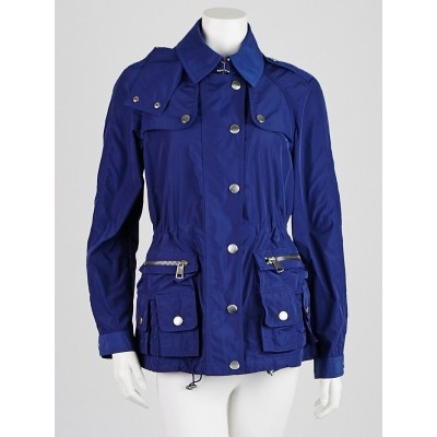 Burberry Blue Polyester Rain Coat Size 6
