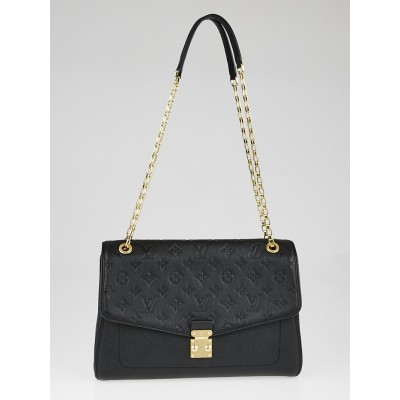 Louis Vuitton Black Monogram Empreinte St Germain MM Bag