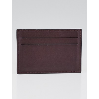 Hermes Prune Swift Leather Citizen Twill Card Case