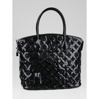 Louis Vuitton Limited Edition Black Monogram Fascination Lockit Bag
