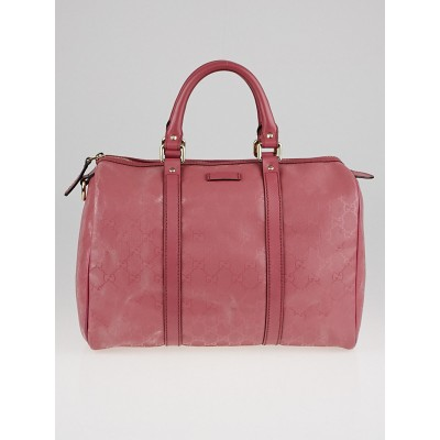 Gucci Pink GG Imprime Coated Canvas Medium Joy Boston Bag