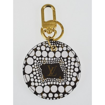 Louis Vuitton Limited Edition Yayoi Kusama White Monogram Waves Key Holder and Bag Charm