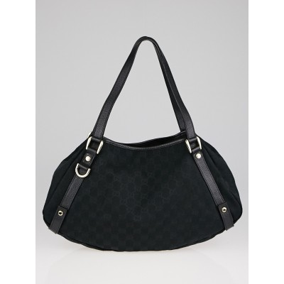Gucci Black GG Canvas Medium Abbey Tote Bag