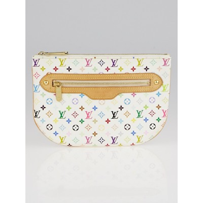Louis Vuitton White Monogram Multicolore Canvas GM Pochette Bag