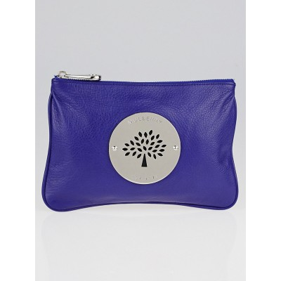 Mulberry Cobalt Spongy Pebbled Leather Daria Pouch