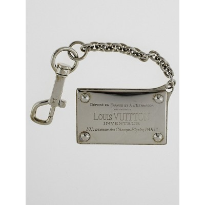 Louis Vuitton Silvertone Metal Traveling Key Holder and Bag Charm