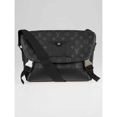 Louis Vuitton Black Monogram Eclipse Canvas Messenger PM Voyager Bag