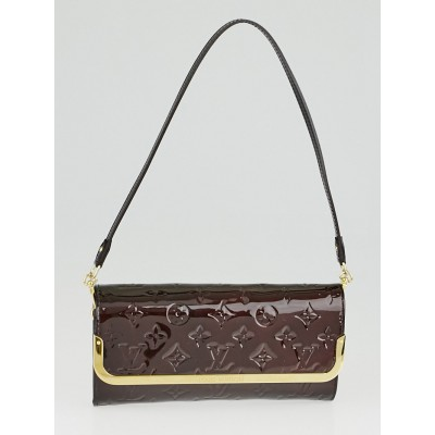 Louis Vuitton Amarante Monogram Vernis Rossmore Clutch Bag