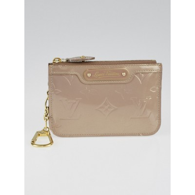 Louis Vuitton Beige Poudre Monogram Vernis Pochette Cles Key and Change Holder
