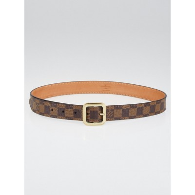 Louis Vuitton Damier Canvas Tresor Belt Size 85/34