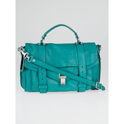 Proenza Schouler Emerald Leather Medium PS1 Satchel Bag