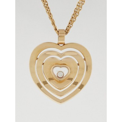 Chopard 18k Rose Gold Large Heart Necklace