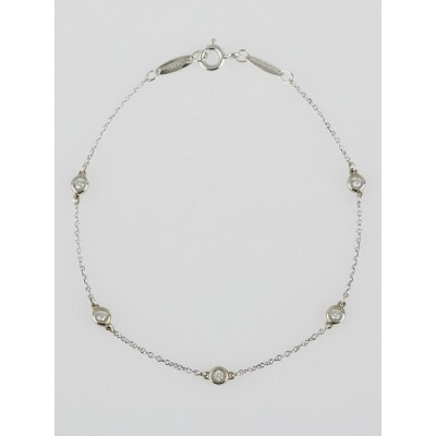 Tiffany & Co. Sterling Silver and Diamond Elsa Peretti Diamonds By The Yard Bracelet