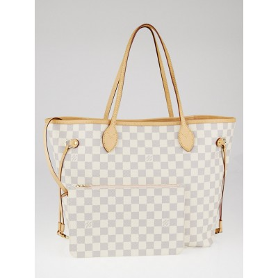 Louis Vuitton Damier Azur Canvas Neverfull MM NM Bag