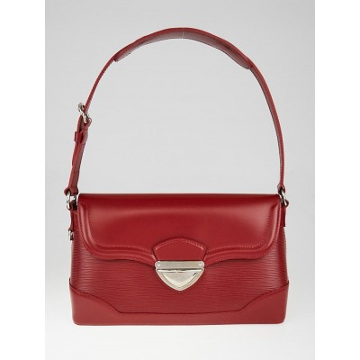 Louis Vuitton Red Epi Leather Bagatelle PM Bag
