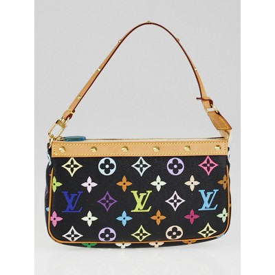 Louis Vuitton Black Multicolore Monogram Canvas Accessories Pochette Bag
