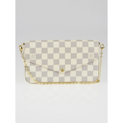 Louis Vuitton Damier Azur Canvas Felicie Chain Wallet Bag