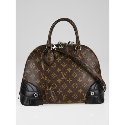 Louis Vuitton Limited Edition Shiny Monogram Canvas Alma PM Bag
