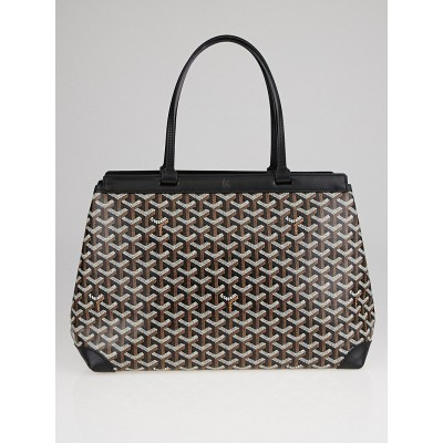 Goyard Black Chevron Coated Canvas Bellechasse PM Tote Bag