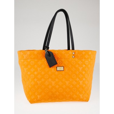 Louis Vuitton Limited Edition Orange Monogram Neoprene Scuba MM Tote Bag
