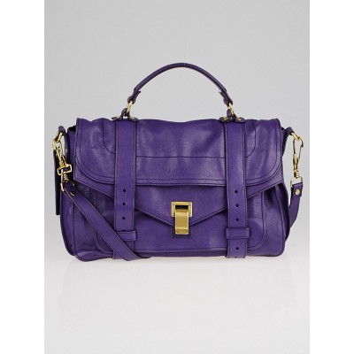 Proenza Schouler Violet Leather Medium PS1 Satchel Bag