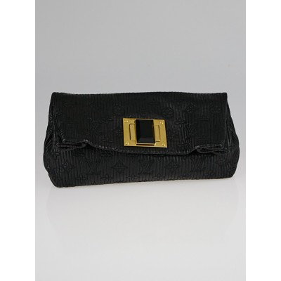 Louis Vuitton Limited Edition Noir Monogram Jacquard Altair Clutch Bag