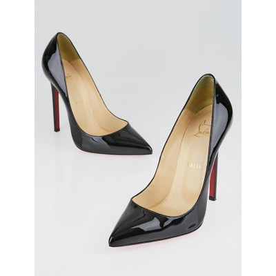 Christian Louboutin Black Patent Leather Pigalle 120 Pumps Size 8.5/39