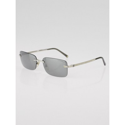 Chanel Silvertone Metal Frame and Tinted Crystal CC Sunglasses- 4120