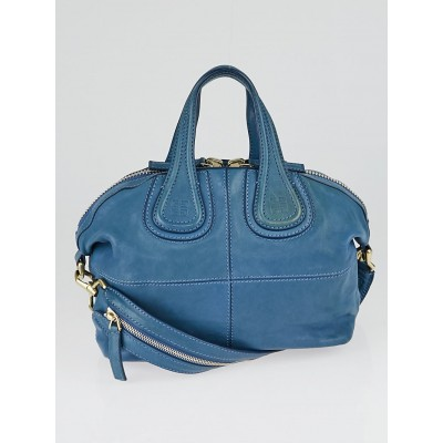 Givenchy Blue Leather Small Nightingale Bag