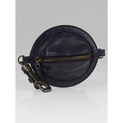 Balenciaga Ink Chevre Leather Planet Key Pouch