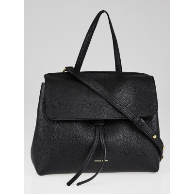 Mansur Gavriel Black Tumble Leather Mini Lady Bag