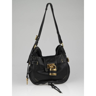 Chloe Black Leather Paddington Shoulder Bag