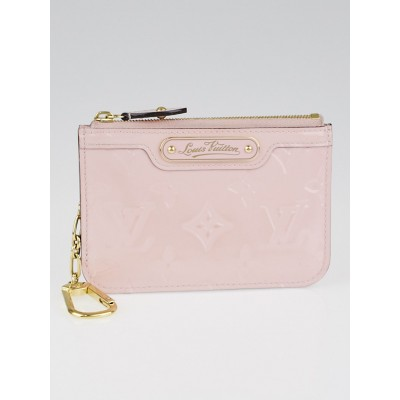 Louis Vuitton Rose Ballerine Monogram Vernis Pochette Cles Key and Change Holder