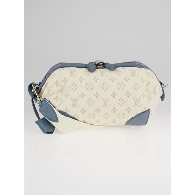 Louis Vuitton Limited Edition Bleu Monogram Denim Pochette Round Bag
