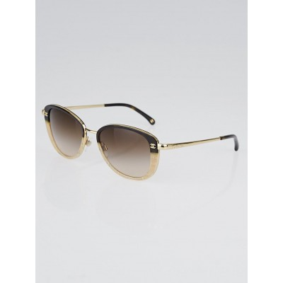 Chanel Brown/Beige Acetate Frame Gradient Tint CC Sunglasses-4183