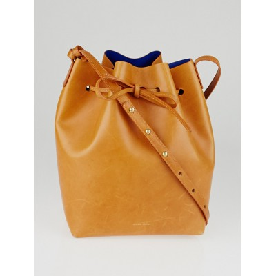 Mansur Gavriel Cammello/Royal Vegetable Tanned Leather Bucket Bag