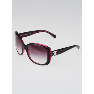 Chanel Red Acetate Frame CC Logo Sunglasses-5183